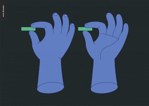 Jeu de vecteur de mains