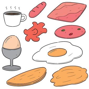 Jeu de vecteur de petit déjeuner