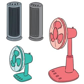 Jeu de vecteur de ventilateur