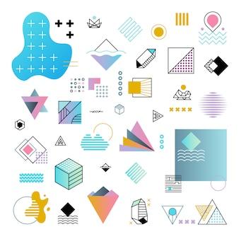 Jeu de vector abstrait abstrait formes géométriques minimal