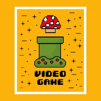 Jeu vidéo champignon jeu divertissant
