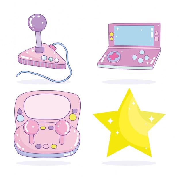 Jeu vidéo gamepad control star divertissement gadget device cartoon électronique