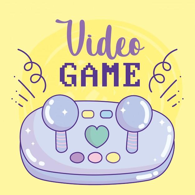 Jeu vidéo joystick boutons divertissement gadget dispositif électronique dessin animé