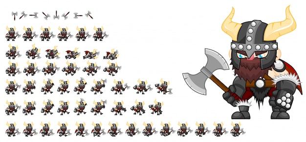Jeu de viking sprite