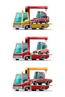 Jeu de voitures de remorquage