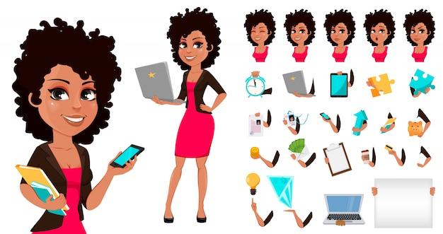 Jeune femme d'affaires afro-américaine