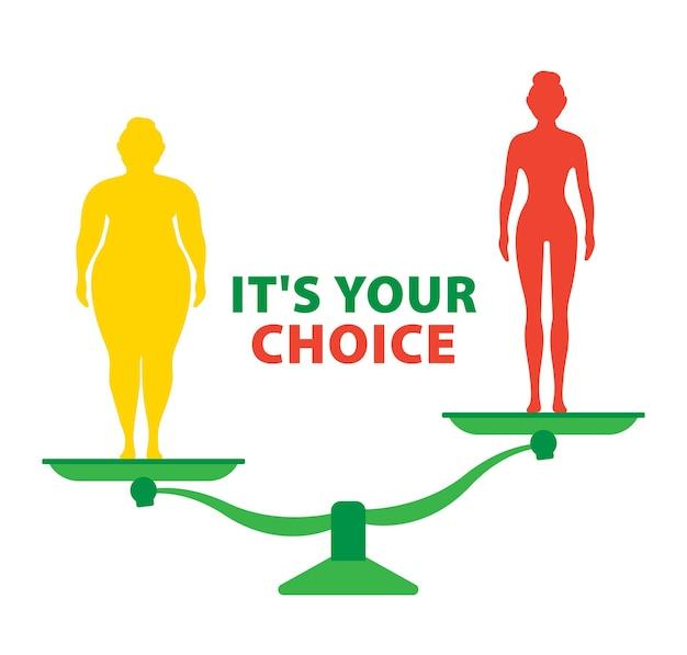 Jeune femme avant et après régime et forme physique