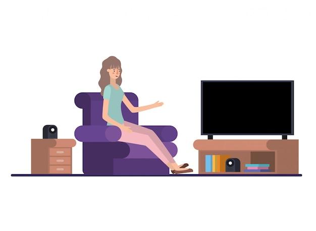 Jeune femme dans le personnage avatar
