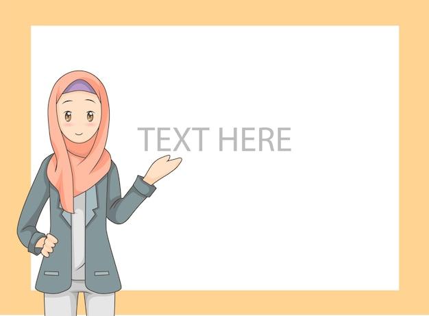 Jeune femme musulmane portant le hijab