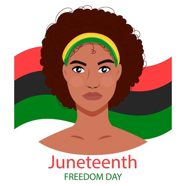 Jeune femme noire, libération de l'esclavage liberté jour de la liberté juinteenth