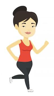 Jeune femme qui court.