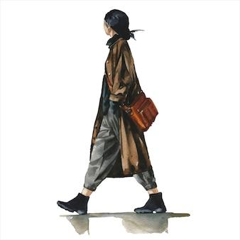 Jeune femme en tenue tendance élégante