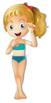 Une jeune fille en bikini
