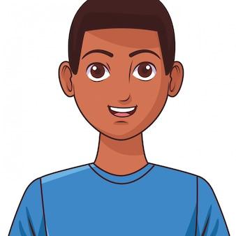 Jeune homme avatar dessin animé personnage photo de profil