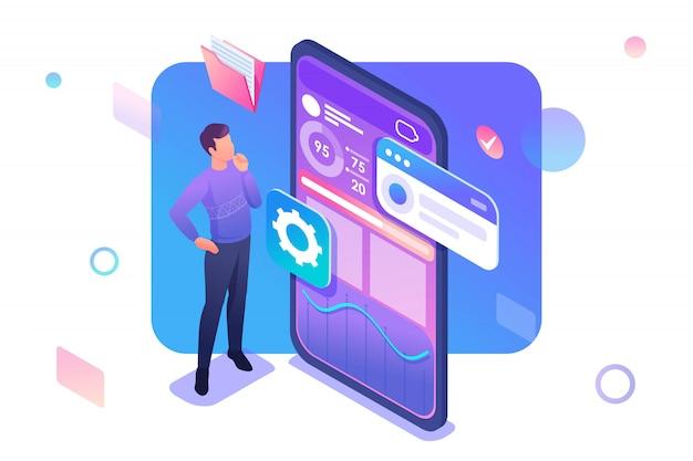 Jeune homme développe une application mobile pour la collecte de données