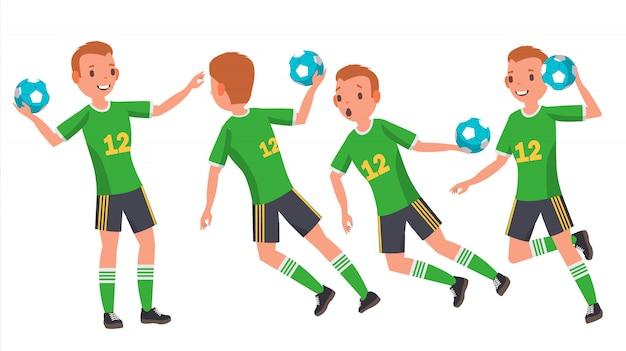 Jeune homme handball