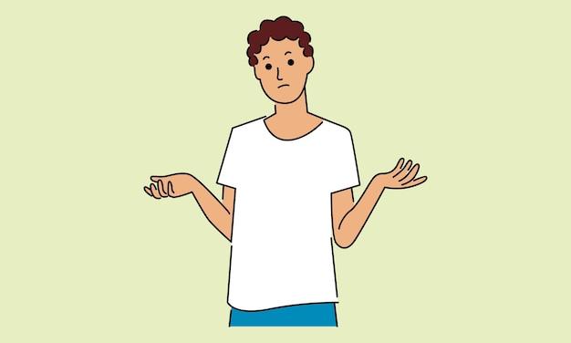 Jeune homme pensant à des choix