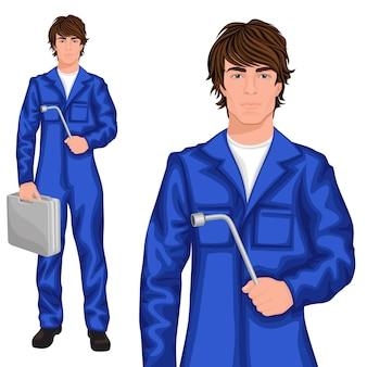 Jeune homme personnage de mécanicien