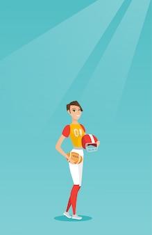 Jeune joueuse de rugby caucasien