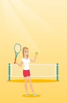 Jeune tennisman caucasien.