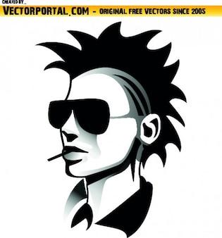 Jeune tête punk