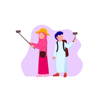 Jeune voyageur musulman et musulman