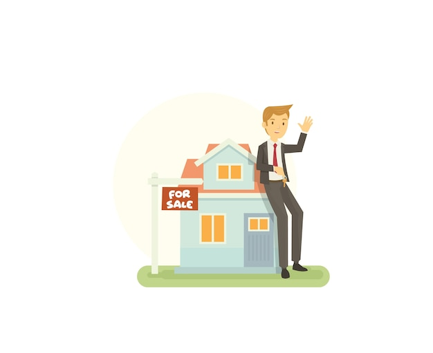 Les jeunes agents immobiliers proposent une nouvelle maison à vendre à l'acheteur