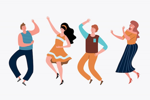 Jeunes, avoir, ensemble fête