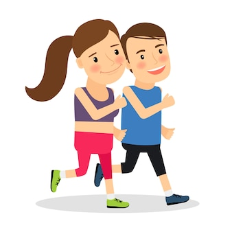 Jeunes coureurs de fitness