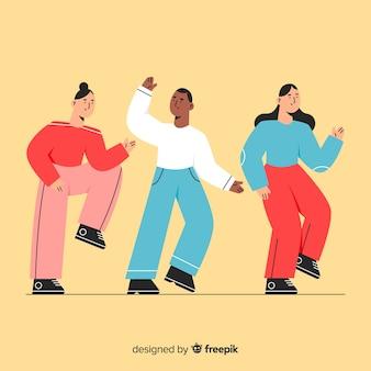 Jeunes dessinés à la main collection de danse
