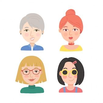 Les jeunes femmes font face à des styles différents