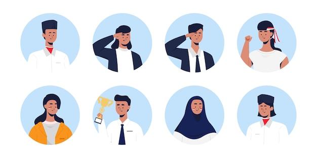Jeunes indonésiens célébrant la journée de l'engagement de la jeunesse