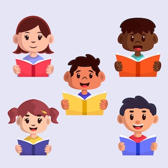Jeunes lisant la collection