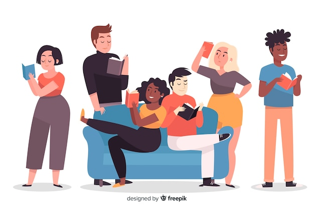 Jeunes lisant un livre
