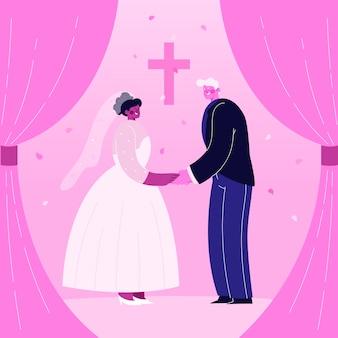Jeunes mariés se marier