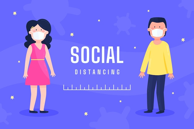 Jeunes pratiquant la distanciation sociale