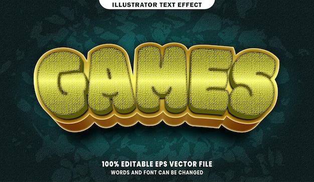 Jeux 3d effet de style de texte modifiable