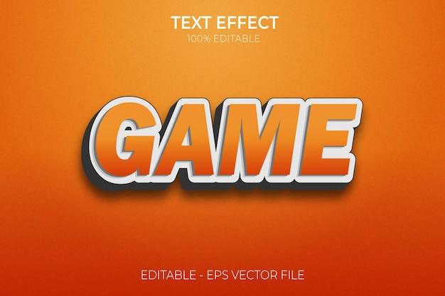 Jeux sur la conception d'effets de texte nouveau vecteur premium de style de texte gras modifiable créatif en 3d