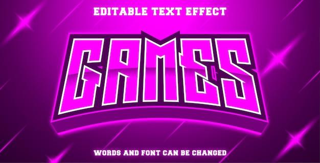 Jeux d'effets de texte modifiables