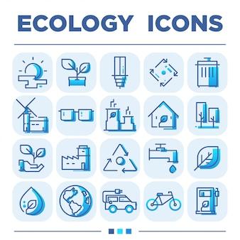 Jeux d'icônes d'écologie