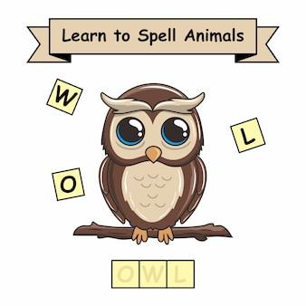 Jeux de noms d'animaux de hibou
