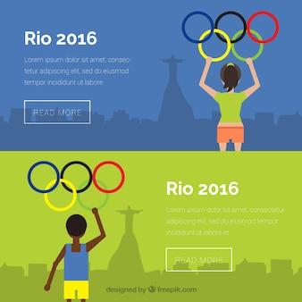 Jeux olympiques bannières