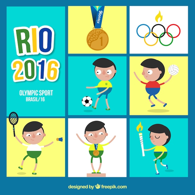 Jeux olympiques rio 2016, fond