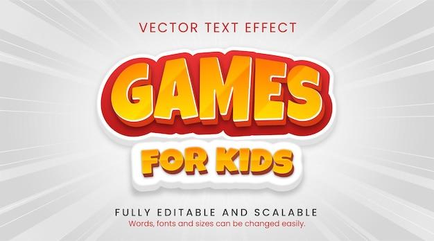 Jeux pour enfants effet de style de texte
