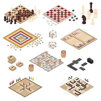 Jeux de société isométrique