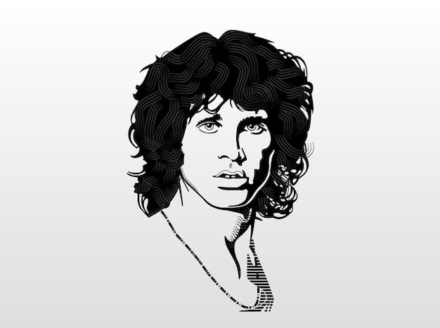 Jim morrison portrait de la musique de la légende