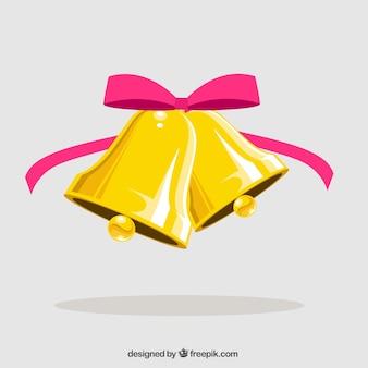 Jingle bells avec arc rose