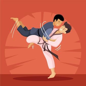 Jiu jitsu au combat et à l'entraînement