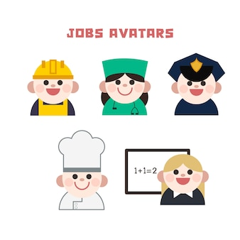 Jobs ensemble d'avatars