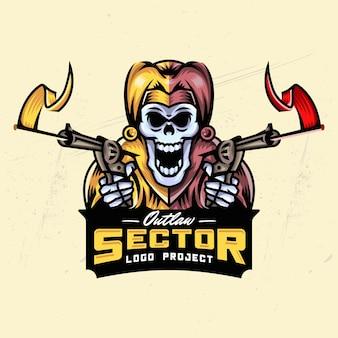 Joker skull esport création de logo